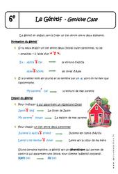 Génitif - Cours - Genitive Case - Groupe nominal : 6eme Primaire