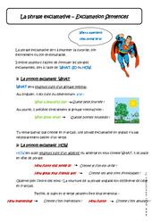 Phrase exclamative - Cours - Anglais : 1ere Secondaire