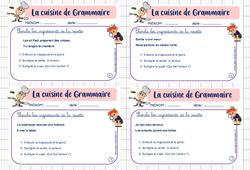 Cuisine de grammaire - Rituel de grammaire : 2eme Primaire