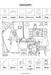 Scène et exploitation pédagogique d'Halloween : 3eme Maternelle - Cycle Fondamental