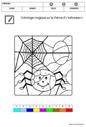 Coloriage magique d'Halloween : 3eme Maternelle - Cycle Fondamental