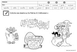 Coloriage thème Halloween : 3eme Maternelle - Cycle Fondamental