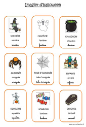 Imagier d'Halloween - 3 polices : 3eme Maternelle - Cycle Fondamental