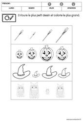 Mathématiques - Halloween : 2eme Maternelle - Cycle Fondamental