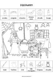 Scène et exploitation pédagogique d'Halloween : 2eme Maternelle - Cycle Fondamental