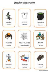 Imagier d'Halloween en 2 polices : 2eme Maternelle - Cycle Fondamental