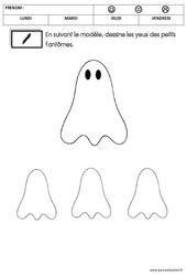 Graphisme - Halloween : 1ere Maternelle - Cycle Fondamental