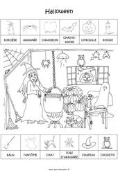 Scène et exploitation pédagogique d'Halloween : 1ere Maternelle - Cycle Fondamental