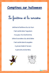 Comptines - Halloween : 1ere Maternelle - Cycle Fondamental