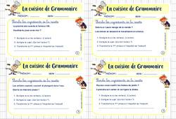 Cuisine de grammaire - Rituel de grammaire : 5eme Primaire