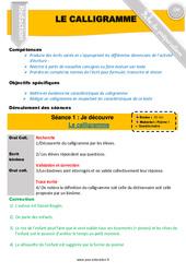 Calligramme - Rédaction - Textes poétiques - Fiche de préparation : 4eme, 5eme Primaire