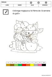 Coloriage magique sur le thème « la semaine du goût » : 3eme Maternelle - Cycle Fondamental