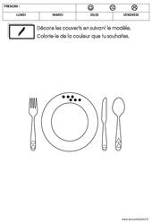 Graphisme - La semaine du goût : 2eme Maternelle - Cycle Fondamental