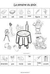 Scène et exploitation pédagogique de « La semaine du goût » : 2eme Maternelle - Cycle Fondamental