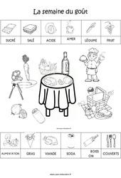 Scène et exploitation pédagogique de « La semaine du goût » : 1ere Maternelle - Cycle Fondamental
