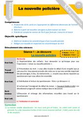 Ecrire un récit / nouvelle policière - Rédaction - Production d'écrit - Fiche de préparation : 4eme, 5eme Primaire