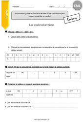 Utiliser la calculatrice - Exercices avec la correction : 4eme Primaire