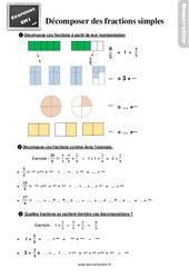 Exercices, révisions sur décomposer des fractions simples au  avec les corrections : 4eme Primaire