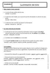 Formation des mots - Cours - Préfixes et suffixes : 2eme Secondaire