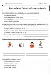Adverbes de Fréquence - Exercices corrigés : 1ere Secondaire