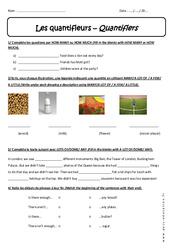 Quantifieurs - Révisions - Quantifiers : 1ere Secondaire