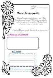 Maguie la marguerite - 1 histoire 1 problème : 2eme Primaire