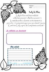 Laly le lilas - 1 histoire 1 problème : 2eme Primaire