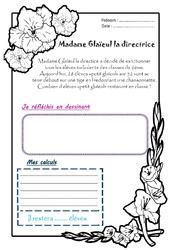 Madame Glaieul la directrice - 1 histoire 1 problème : 2eme Primaire