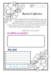 Martine l'églantine - 1 histoire 1 problème : 2eme Primaire