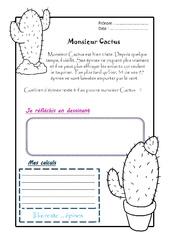 Monsieur Cactus - 1 histoire 1 problème : 2eme Primaire