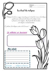 Le duel de tulipes - 1 histoire 1 problème : 2eme Primaire