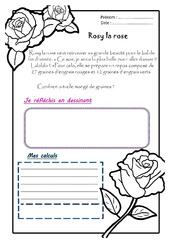 Rosy la rose - 1 histoire 1 problème : 2eme Primaire