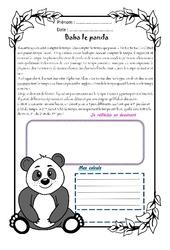 Baba le panda - 1 histoire 1 problème : 5eme Primaire