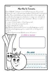 Marthe la Tomate - 1 histoire 1 problème : 3eme Primaire