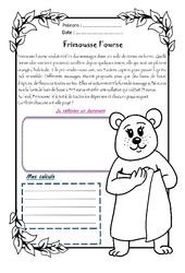 Frimousse l'ourse - 1 histoire 1 problème : 4eme Primaire