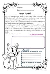 Rocar renard - 1 histoire 1 problème : 4eme Primaire