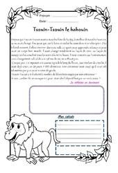 Tsouin - Tsouin le babouin - 1 histoire 1 problème : 4eme Primaire