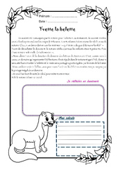 Yvette la belette - 1 histoire 1 problème : 4eme Primaire