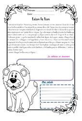 Léon le lion - 1 histoire 1 problème : 4eme Primaire