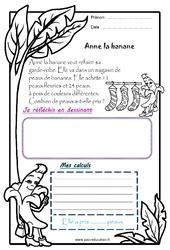 Anne la banane - 1 histoire 1 problème : 1ere Primaire