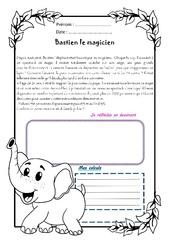 Bastien l'éléphant magicien - 1 histoire 1 problème : 5eme Primaire