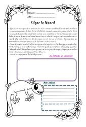 Edgar le lézard - 1 histoire 1 problème : 5eme Primaire