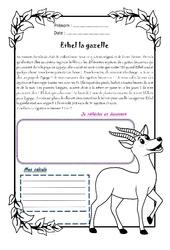 Ethel la gazelle - 1 histoire 1 problème : 5eme Primaire