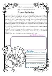 Gaston le dindon - 1 histoire 1 problème : 5eme Primaire
