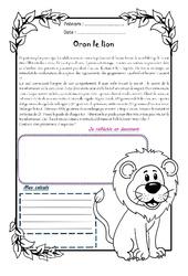 Oron le lion - 1 histoire 1 problème : 5eme Primaire