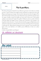 Pièr la panthère - 1 histoire 1 problème : 5eme Primaire