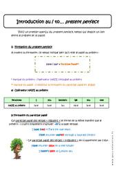 Present perfect - Cours - Anglais : 1ere Secondaire
