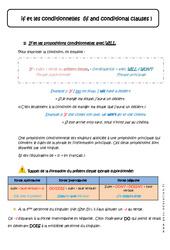 if et les conditionnelles - Cours - Anglais : 1ere Secondaire