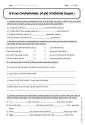 if et les conditionnelles - Révisions : 1ere Secondaire