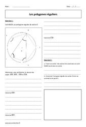 Polygones réguliers - Exercices corrigés : 3eme Secondaire